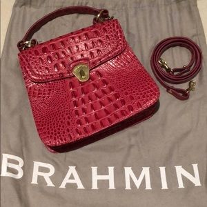 Brahmin pink leather purse